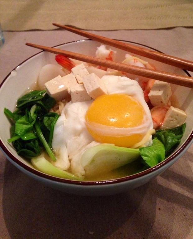 Chicken and Egg Miso Ramen:Oiishi!